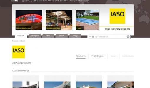 IASO S'INSCRIT À ARCHIEXPO, LE SALON VIRTUEL DE L'ARCHITECTURE
